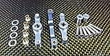 Tamiya TT-01 Upgrade Parts Aluminium Steering Assembly with Bearings - 1 Set Gray Silver