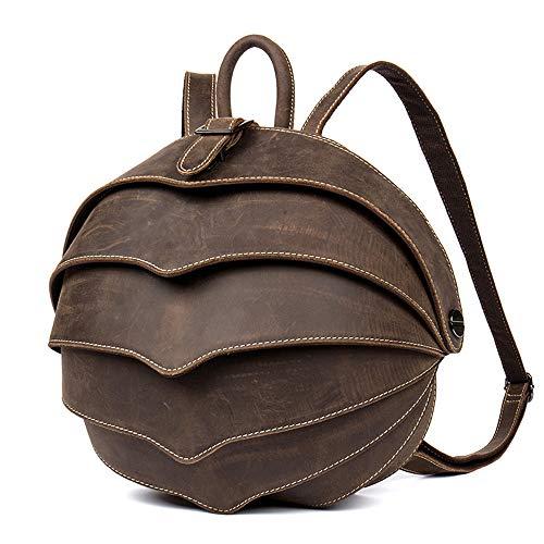 Leder Käfer Rucksäcke - Vintage handgemachte echtes Leder Rucksäcke Herren Freizeitmode Unisex tragbarer Reiserucksack für Mann oder Frau