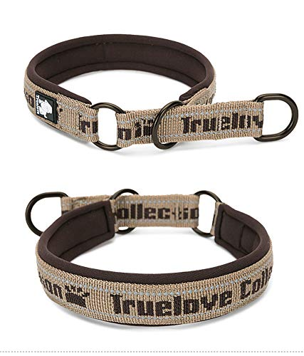 Rantow - Collare a strozzo per cani in nylon, a strisce riflettenti, per cani di taglia piccola, media e grande, colore: rosa, nero, rosso, blu, marrone, verde, arancione