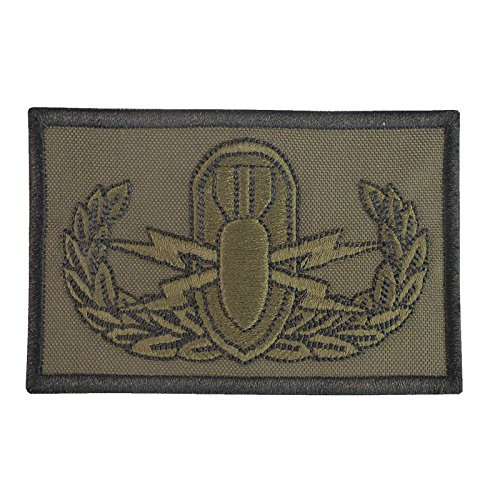 2AFTER1 EOD Olive Drab Green OD Explosive Ordnance Disposal Bomb Squad Army Sew Iron on Patch
