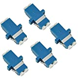 5 Pack Fiber Optic Cable Adapter/coupler LC-LC...