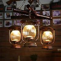 ZHXZHXMYブティック照明 - レトロ三、アメリカン、レトロランプ56センチメートル* 90CM