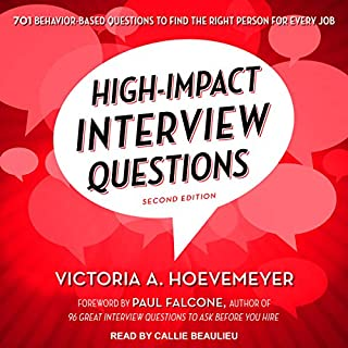 high impact interview questions audiobook cover art