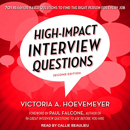 High-Impact Interview Questions audiobook cover art