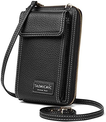Damen Brieftasche Cross-Body Tasche Leder Geldbörse Handy Mini-Tasche Kartenhalter Schulter Brieftasche Tasche Kunstleder Reißverschluss Beutel Frauen