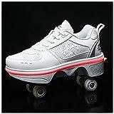 ♥ Les chaussures de déformation sont différentes des autres patins. Les roues cachées peuvent être comme des chaussures de sport, elles ne sont donc pas seulement des patins à rouleaux, mais aussi d'une chaussure de course sportive. Il y aura des rou...