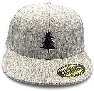 Men's Hat - Split Tree Illustration - Men's Flat Bill & Curved Bill Fitted & Snapback Options Available
