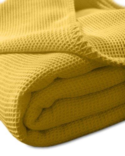 Pique-Decke mit Zierstich-Einfassung, Waffelpique, Bettüberwurf, Tagesdecke