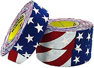 3 Rolls of Comp-O-Stik American Flag Hockey Lacrosse Stick Tape ATHLETIC TAPE (3 Pack) Made In The U.S.A. 1
