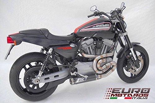 Zard Impianto Scarico Completo con Silenziatore in Carbonio System Exhaust per Harley Davidson XR 1200