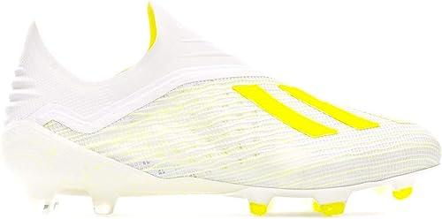 Adidas X 18+ FG, Bota de fútbol, Weiß-Solar Gelb-Off Weiß
