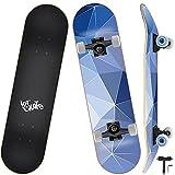 Skateboard Completo, Funxim Tabla de Skateboard 31 x 8 Pulgadas 4 Ruedas 7...