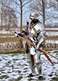 NauticalMart Knight Full Suit of Armor Combat Ready Medieval Armour Wearable Custom Knight's Costume Statue