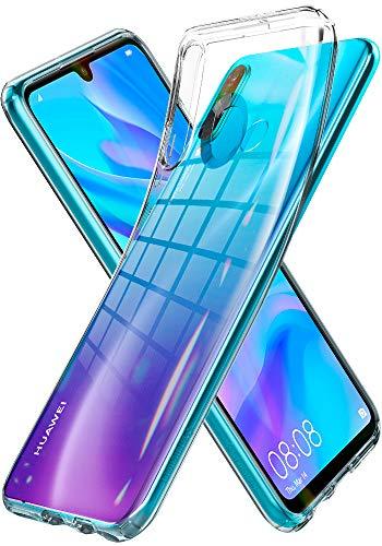 Spigen Liquid Crystal Kompatibel mit Huawei P30 Lite Hülle & Huawei P30 Lite New Edition Hülle Transparent Silikon Handyhülle Huawei P30 Lite Hülle Crystal Clear