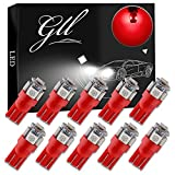 Grandview 10pcs Red T10 5050 12V W5W 2825 T10 LED Car 5 SMD 194 192 168 Car Auto Reading Lights Car Door Light Luggage Compartment Light LED Bulbs