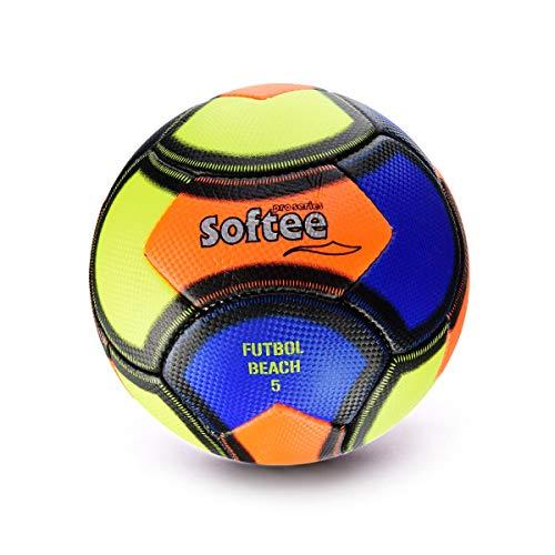 Softee Equipment 0000701 Balón Soccer Beach, Unisex, Blanco, S