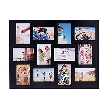 Malden 4x6 12Opening Collage Picture Frame Displays Twelve Black