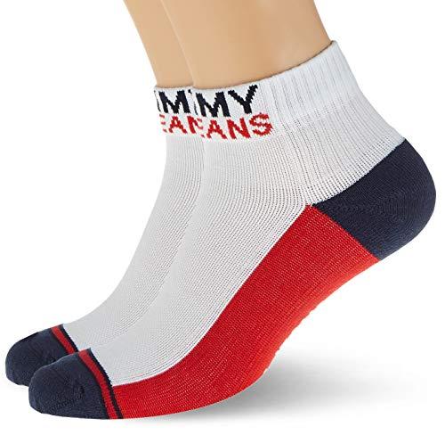 Tommy Jeans Unisex-Adult Quarter (2 Pack) Socks, White, 35/38 (2er Pack)