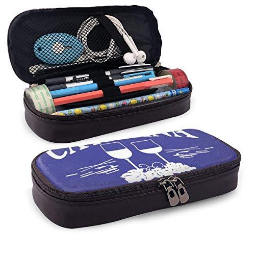 Stationery Bag Catalina Wijn Mixer Middelbare School Verjaardag Speciale Multi-Functionele College Pen Pencil Case Stationery Bag Rits Office Pouch voor Pu Lederen Waterdicht