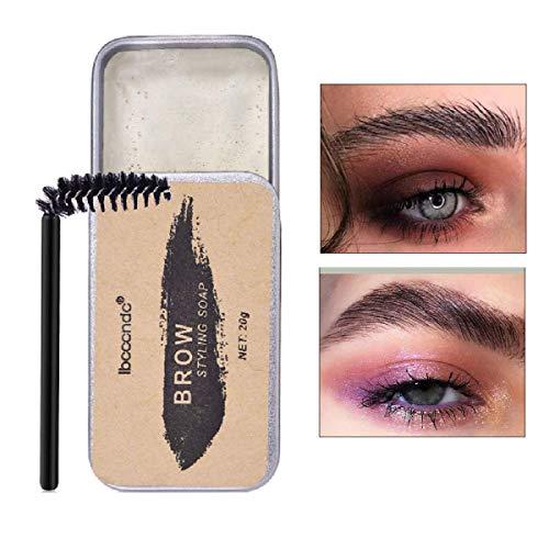 Augenbrauen-Styling-Seife Kit, Brauen Styling Seife mit Pinsel, 3D Eyebrow Make-up Gel, Langlebige Wasserdichte Wild Augenbrauen Brauen Gel