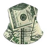 American Dollar Money Neck Gaiter Face Mask Sports Bandana Balaclava Headwear Scarf Headband for Women and Men