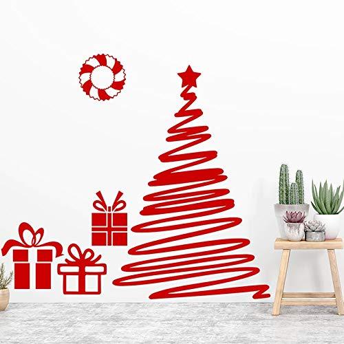 Ajcwhml Calcomanías, Pegatinas de Pared de Feliz Navidad, Ventana, Vidrio, Vinilo, Festival, Arte Mural, decoración del hogar 42X61CM