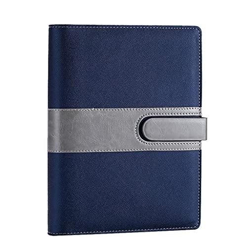 LICHUAN Cuadernos de autoayuda Cuadernos Cuadernos encuadernados en Espiral para Trabajos Cuadernos Azules para la Oficina en casa para niños (9.1 Pulgadas * 6.6 Pulgadas)