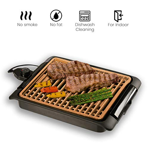 BEST DIRECT Starlyf Smokefree Grill Original Come Visto alla TV Griglia No Fumo Carne e Verdure Grigliate Set Piastra Extra Cucina Barbecue (Griglia E