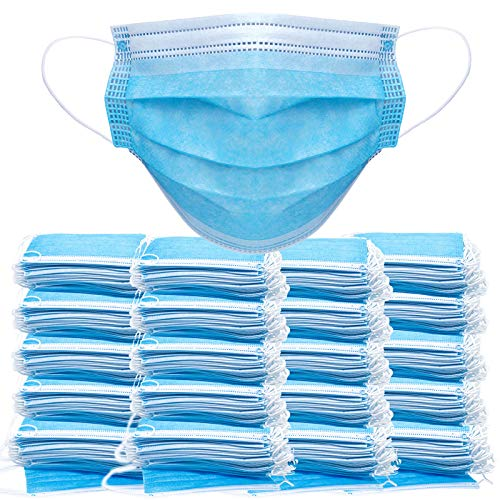 1000PCS Face Masks Disposable Face Shield Filter Protection Breathable Dust Proof 1000 Count (Pack of 1)