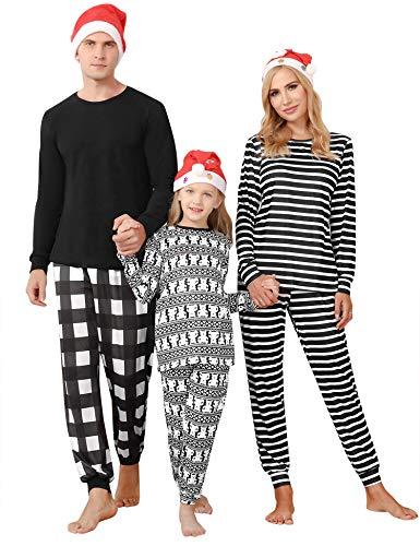 Irevial Rodzinna piżama bożonarodzeniowa, zabawna bielizna nocna, dla mężczyzn, kobiet, długa, zestaw piżamowy, koszula nocna dla dzieci, długie Boże Narodzenie, bielizna nocna, strój domowy