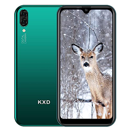 KXD A1 Smartphone Economici Offerta Cellulare Android Dual SIM Fotocamere Posteriori 5M Tre Slot Per Schede 16GB ROM (128GB Espandibili) 5,71   Waterdrop Schermo Cellulari Offerte - Verde