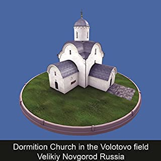 Dormition Church in the Volotovo field Velikiy Novgorod Russia cover art
