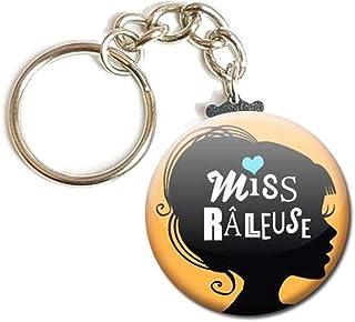Porte Clés Chaînette 3,8 centimètres Miss Râleuse Idée Cadeau Accessoire Remerciement Anniversaire Noël Fête Femme Fille C...