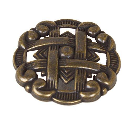 GlideRite Hardware 5745-AB-10 1.375 Celtic Medallion Cabinet Knobs 10 Pack, Antique Brass Finish