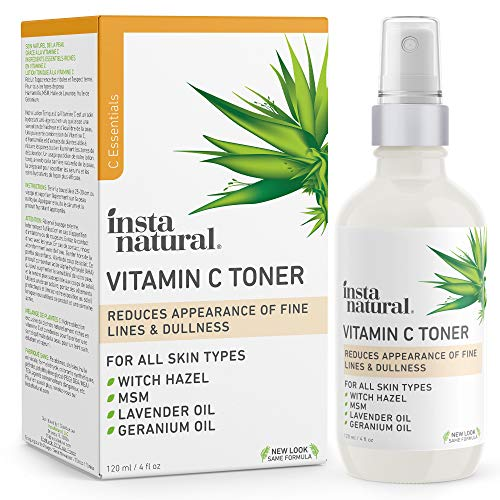 InstaNatural Vitamin C Facial Toner - Anti Aging Face Spray with Witch Hazel - Pore Minimizer & Calming Skin Treatment for Sensitive, Dry & Combination...