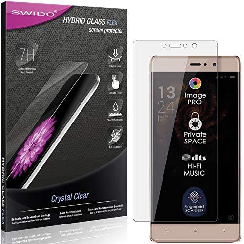 SWIDO Panzerglas Schutzfolie kompatibel mit Allview X3 Soul Style Bildschirmschutz-Folie & Glas = biegsames HYBRIDGLAS, splitterfrei, Anti-Fingerprint KLAR - HD-Clear