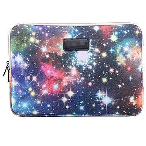 Stile Serie Galaxy Tessuto di Tela Custodia Borsa Involucro Sleeve Case per Netbook/Laptop/Notebook/Computer Portatile/MacBook 10 Pollici,Blu