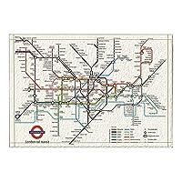 Assanu ロンドン地下鉄地下鉄地図装飾都市地下鉄トラックパターン装飾ホームディスプレイ出入口浴室浴室浴室リビングルーム絶妙な滑り止めカーペット
