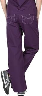 Blue Sky Scrubs Grey Label Shelby Scrub Pants (X-Small, Eggplant)
