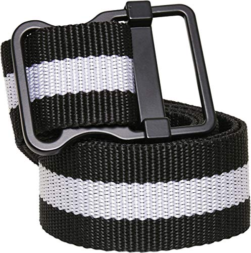 Urban Classics Unisex Belt Easy with Stripes, Size:S/M, Color:black/white