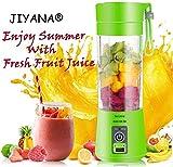 JIYANA Portable USB Electric Blender Juicer Cup Plastic Fruit Juicer Grinder 380ml Juice Blender...