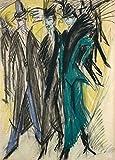 Kits de pintura por números escena callejera en Berlín Ernst Ludwig Kirchner pintura al óleo para principiantes lienzo para principiantes regalos