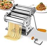 Máquina Todeco para fazer massa, máquina de massa, espaguete, tagliatelle, lasanha, 6 configurações de espessura de 0,5 a 3 mm