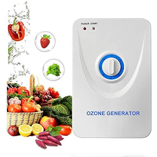 CAIYUE Generatore di ozono Domestico, Verdura, Frutta, Carne, purificatore per Acqua e Aria, Eccellente purificatore di odori, purificatore di ozono (600 MG/Ora)