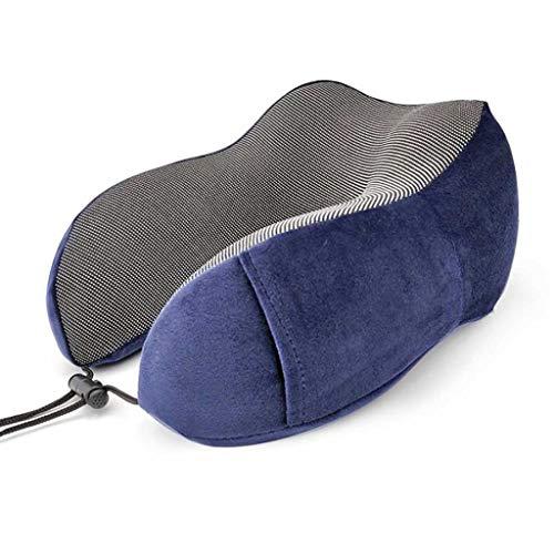 Almohada para el Cuello para Viajar, Almohada clás Almohadas de Viaje En Forma de U del Cuello del Recorrido de la Almohadilla de Espuma de Memoria de la Almohadilla Suave sólido Cuello Salud Oficina