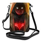 shenguang Capot rouge léger petits sacs à bandoulière en cuir sacs à main pour téléphone portable pochette de voyage sac à bandoulière portefeuille avec fentes pour cartes de crédit pou