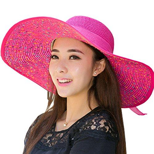 BLANCHO BEDDING [Rose] Sun Hat Chapeau à Large Bord Femmes Hat pour l'utilisation d'été #01