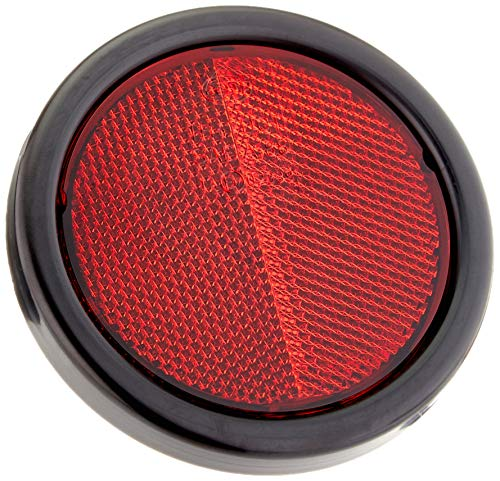 HELLA 8RA 002 016-121 Rückstrahler - Lichtscheibenfarbe: rot - rund - Anbau/geschraubt - hinten