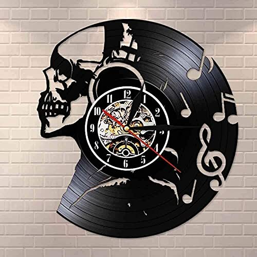Reloj de Pared con Disco de Vinilo Reloj de Pared Retro Música...