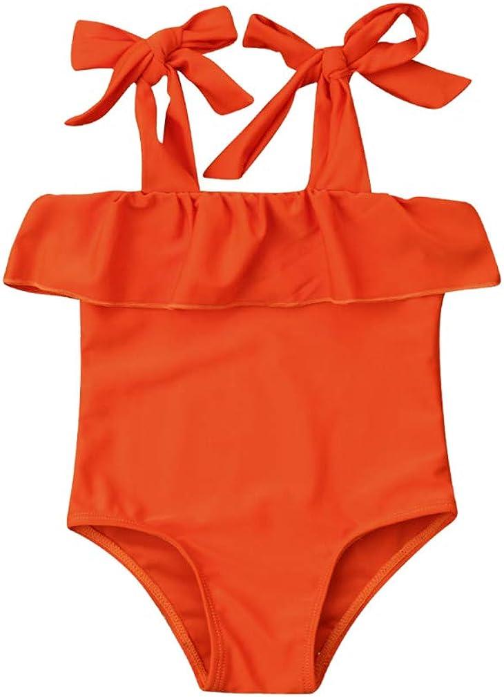 Karuedoo Baby Girl One Piece Swimsuit Off Shoulder Ruffled Flounce Bathing Suit Swimwear Beach Bikini: Clothing, Shoes & Jewelry
